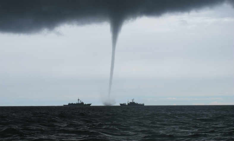 A tornado in the Baltic Sea from 2015
