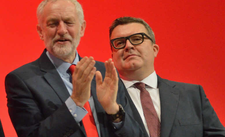 Jeremy Corbyn and deputy leader Tom Watson at Labour Party Conference in 2016