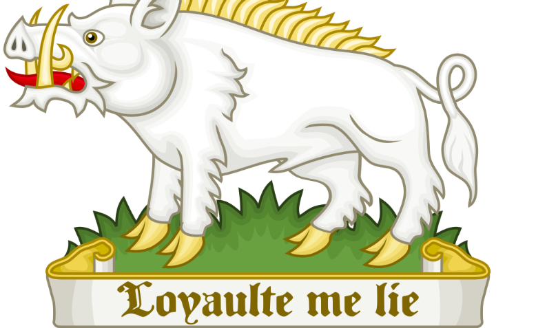 "The White Boar badge of Richard III, ""Loyaulte Me Lie"" (Loyalty Binds Me). Graphic: Wikimedia/Sodacan"
