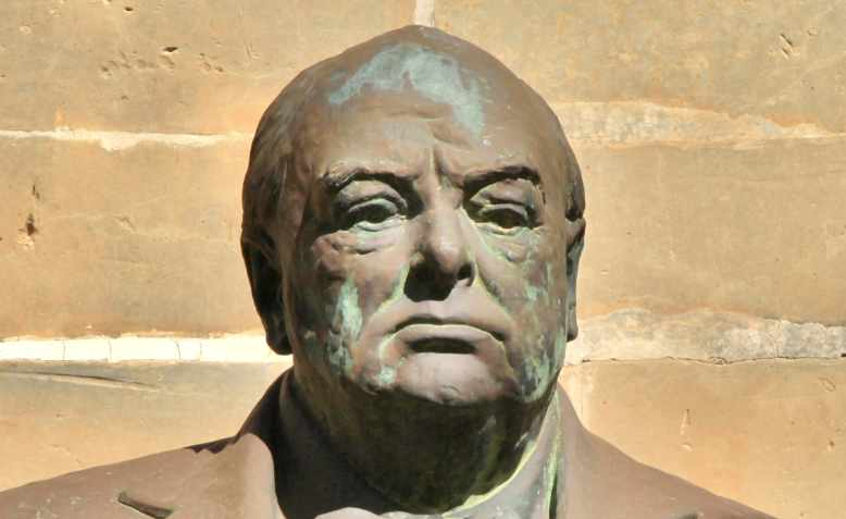 Maltese Winston Churchill bust