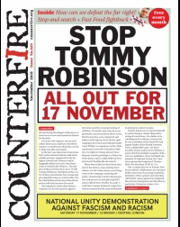 Stop Tommy Robinson, All out for 17 November - Counterfire Freesheet November 2018