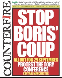 Stop Boris' Coup - Counterfire Freesheet September 2019