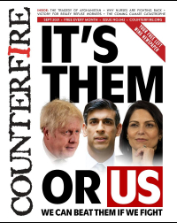 It's them or us: we can beat them if we fight - Counterfire Freesheet September 2021