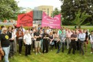 Staff and students protest in support of victimised UCU activist John Westmoreland