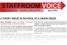 Every issue in school is a union issue - Staffroom Voice Bulletin April 2021