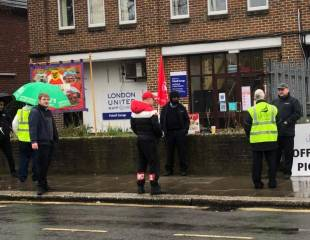 London bus drivers strike against attack on pay and conditions