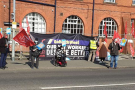 Standing up to fire and hire: Go North West drivers begin all-out strike - video