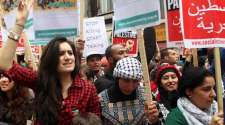 Thousands besiege Israeli embassy in protest at war on Gaza