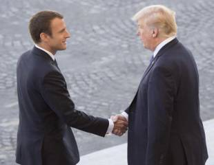Trump and Macron: tangoing in Paris