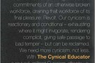 The Cynical Educator - book review