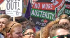 No More Austerity protest report