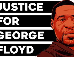 Justice for George Floyd: model resolution and window poster