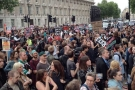Protestors descend on Downing Street after Queen's Speech