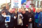 NHS workers strike against the pay freeze