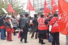 St Mungo's workers strike against pay cuts and 'tick box' care