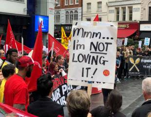 Fast food, pub and delivery workers strike across the country