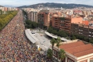 Huge numbers join Catalonia's general strike for freedom