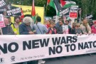 We'll protest as long as Nato promotes war